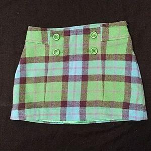 Gap kids plaid skirt adjustable - EUC